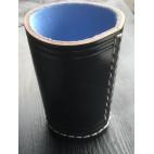 Würfelbecher Premium Schwarz / Blau