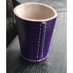 Leder- Würfelbecher Color- purple