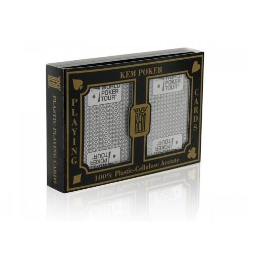 Kem WPT Black & Silver Doppeldeck Poker