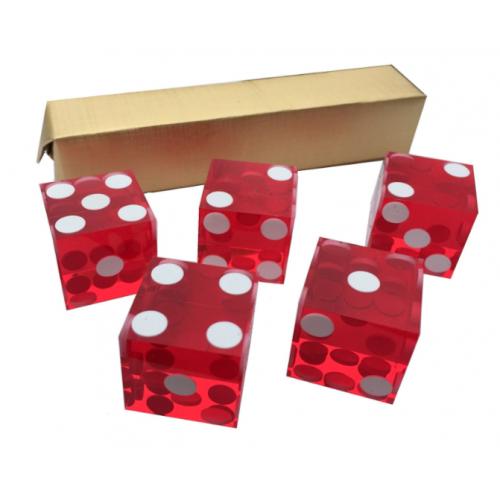 Casino Würfel, farbig sortiert