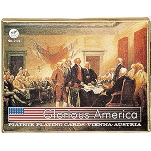 Glorious America Spielkarten de Luxe