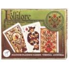 Folklore Trachtenbridge Spielkarten de Luxe