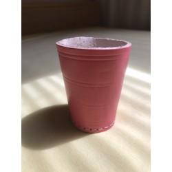 Leder- Würfelbecher Color- pink