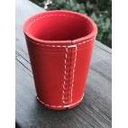 Würfelbecher  Rot / Rot